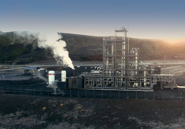 The CRI's George Olah Renewable Methanol Plant in Grindavik, near Reykjavík, Iceland (source: www.carbonrecycling.is, February 2019)
